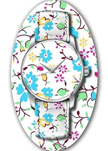 OUO Damen Maedchen -Armbanduhr Analog Analog Quarz Leder 9-WATCH-YIN-PJ9