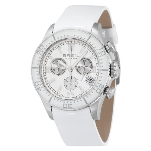 BREIL Damen Armbanduhr MANTA WHITE CHR WHITE DIAL WHITE PATENT BW0502