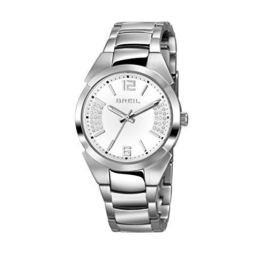 Breil tw1399 Damen Gap Edelstahl Fall und Gurt Weiss Zifferblatt Quarz Armbanduhr