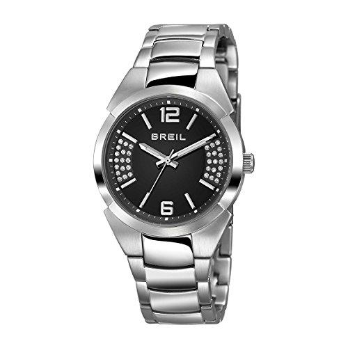 Breil tw1402 Gap Damen Armbanduhr Zifferblatt schwarz mit Swarovski Riemen Edelstahl Fall und Quarz