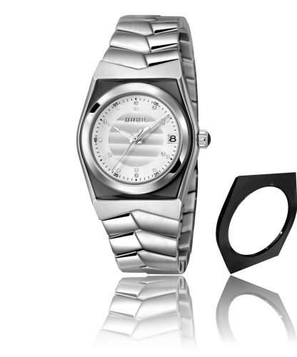 Breil Damen-Armbanduhr XS Escape Analog Quarz Edelstahl TW0976