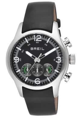 Breil Herren-Armbanduhr XL Chronograph Leder TW0774