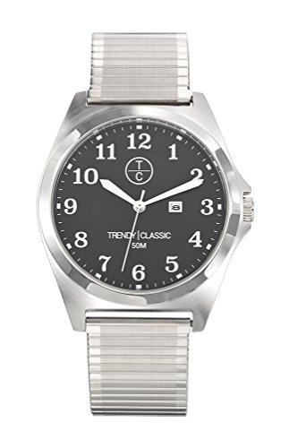Trendy Classic 1015 02D cm Alyce Quarz analog Armband Stahl Grau