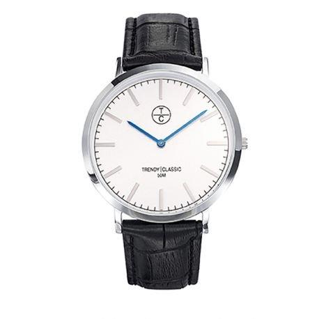 Trendy Classic cc1025 03 Armbanduhr Armband Leder Schwarz