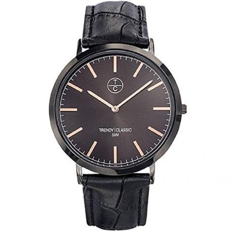 Trendy Classic CB1025 32 Armbanduhr Armband Leder Schwarz