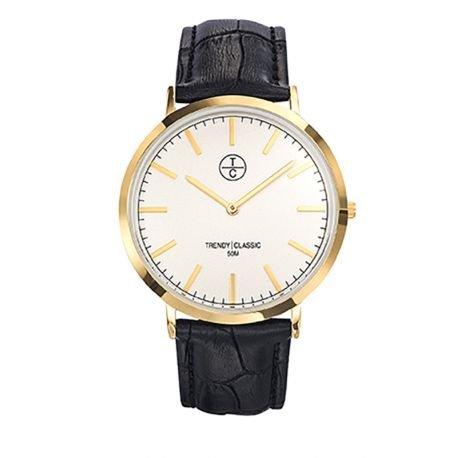 Trendy Classic cg1025 03 Armbanduhr Armband Leder Schwarz