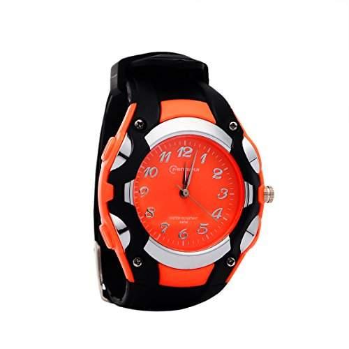 8Years - 1 Kinder Zeiger Quarz Uhr Armbanduhr Watch Damen Herren Wasserdicht Orange