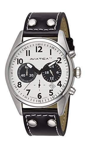 AVIATICA Armbanduhr Herren Fliegeruhr Leder Flight Commander Collection IV Chrono 03252015