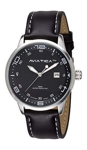 AVIATICA Armbanduhr Herren Fliegeruhr Leder Flight Commander Original One 03123051