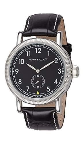 AVIATICA Armbanduhr Herren Fliegeruhr Leder Flight Commander Classic 03627007