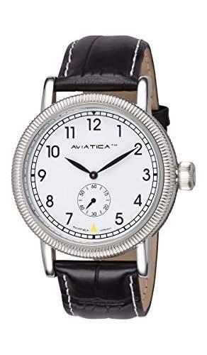 AVIATICA Armbanduhr Herren Fliegeruhr Leder Flight Commander Classic 03627008