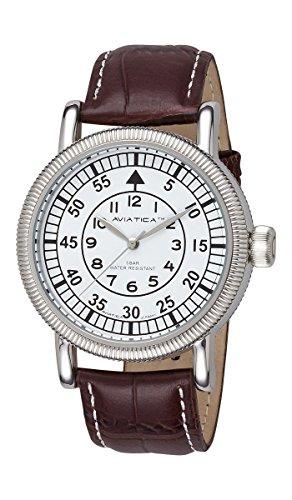 AVIATICA Armbanduhr Herren Fliegeruhr Leder Flight Commander Classic 03627005