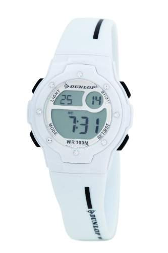 Dunlop Damen-Armbanduhr Digital Plastik weiss DUN-153-L11