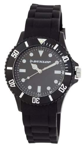 Dunlop Damenuhr - Armbanduhr Analog Quarz Schwarz Silikon Dun-185-L01