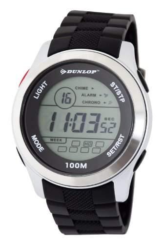 Dunlop Unisex-Armbanduhr Digital Kunststoff schwarz DUN-204-G01