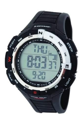 Dunlop Herren-Armbanduhr Diviner Digital Plastik Schwarz DUN-226-G01