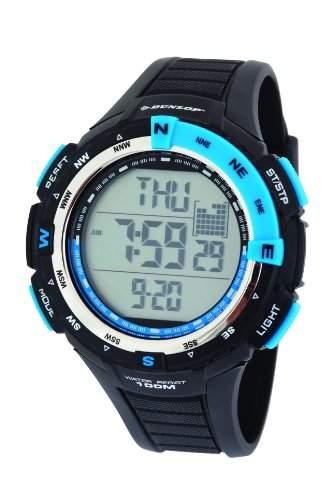 Dunlop Herren-Armbanduhr Diviner Digital Plastik Schwarz DUN-226-G03