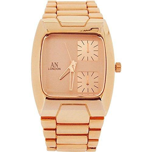 AN London Unisex Jumbo Chronoeffekt rosevergoldete Armbanduhr AN1040