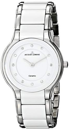 Jacques Lemans Damen-Armbanduhr XS Dublin Analog Quarz Keramik 1-1582F