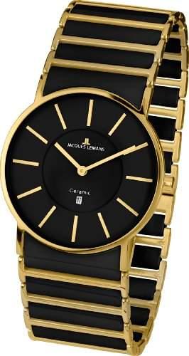 Jacques Lemans Classic Herren-Armbanduhr XL York Analog Keramik 1-1648D