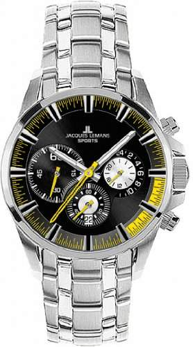 Jacques Lemans Sports Herren-Armbanduhr XL Liverpool Chronograph Edelstahl 1-1652L