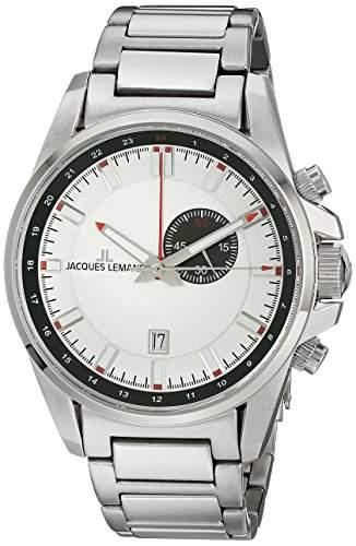 Jacques Lemans Herren-Armbanduhr XL Liverpool GMT Analog Quarz Edelstahl 1-1653E