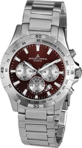 Jacques Lemans Sports Herren-Armbanduhr XL Montreal Chronograph Edelstahl 1-1670I