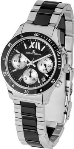 Jacques Lemans Sports Herren-Armbanduhr XL Rome Chronograph Keramik 1-1681A
