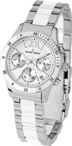 Jacques Lemans Sports Herren-Armbanduhr XL Rome Chronograph Keramik 1-1681B