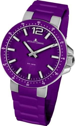 Jacques Lemans Damen-Armbanduhr XS Milano Analog Silikon 1-1707K
