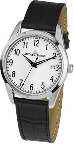 Jacques Lemans Unisex-Armbanduhr Analog Quarz Leder 1-1769B