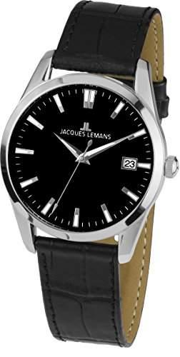 Jacques Lemans Unisex-Armbanduhr Analog Quarz Leder 1-1769C