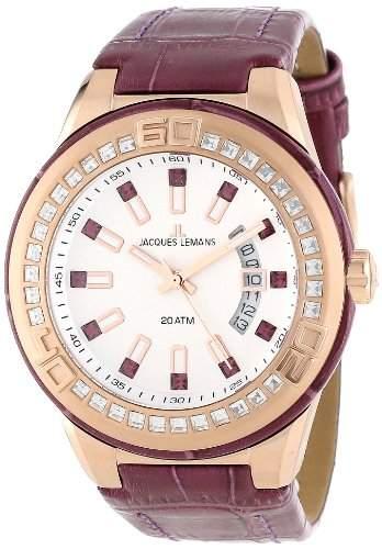 Jacques Lemans Unisex-Armbanduhr Miami Analog Quarz Leder 1-1776H