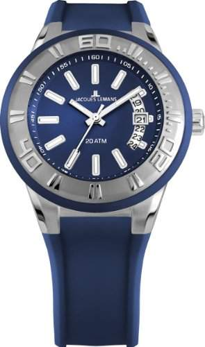 Jacques Lemans Unisex-Armbanduhr Miami Analog Quarz Silikon 1-1785C