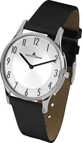 Jacques Lemans Damen-Armbanduhr Analog Quarz Leder 1-1851B