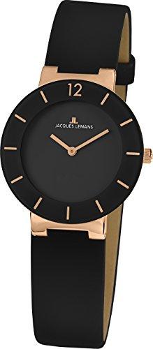Jacques Lemans Damen Armbanduhr Analog Quarz Leder 41 5C