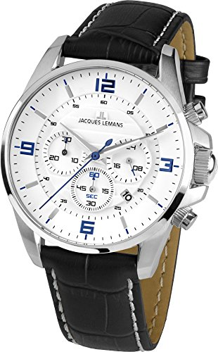 Jacques Lemans Liverpool Analog Quarz Leder 1 1857B