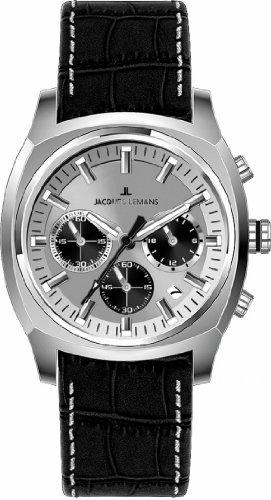 Jacques Lemans Sports XL Panama Chronograph Leder 1 1556B