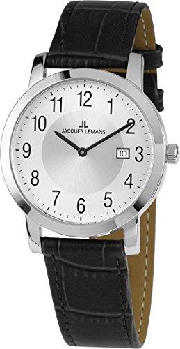 Jacques Lemans Unisex Armbanduhr Analog Quarz Leder 41 1A