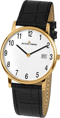 Jacques Lemans Unisex Armbanduhr Vienna Analog Quarz Leder 1 1848D