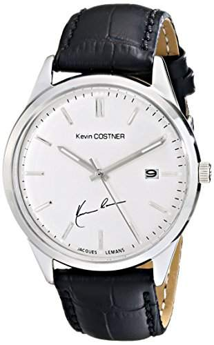 Jacques Lemans Unisex-Armbanduhr Kevin Costner Collection Analog Quarz Leder KC-102A