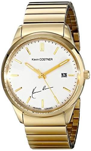 Jacques Lemans Unisex-Armbanduhr Kevin Costner Collection Analog Quarz Edelstahl beschichtet KC-102E
