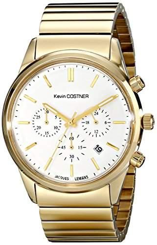 Jacques Lemans Unisex-Armbanduhr Kevin Costner Collection Chronograph Quarz Edelstahl beschichtet KC-103E