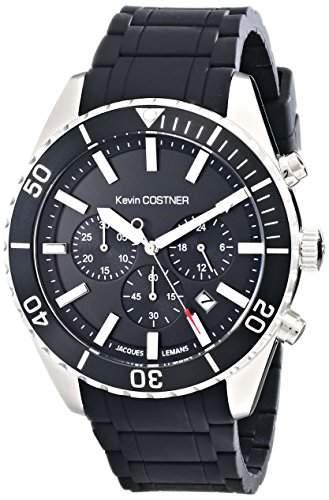 Jacques Lemans Unisex-Armbanduhr Kevin Costner Collection Chronograph Quarz Kautschuk KC-104A