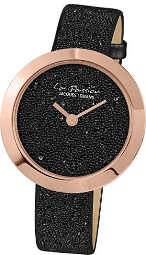 Jacques Lemans Damen-Armbanduhr La Passion Analog Quarz Leder LP-124E