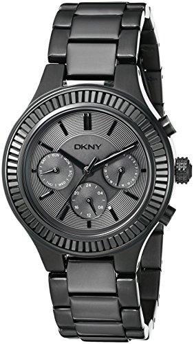 DKNY Damen Armbanduhr 38mm Armband Edelstahl Schwarz Gehaeuse Quarz Chronograph NY2397