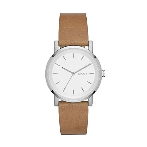DKNY Damen Armbanduhr SOHO Analog Quarz Leder NY2339