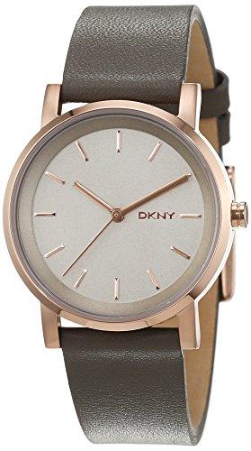 DKNY Damen Armbanduhr SOHO Analog Quarz Leder NY2341