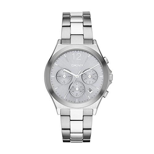 DKNY NY2451 PARSONS Chronograph Uhr Damenuhr Edelstahl 50m Analog Chrono Datum silber