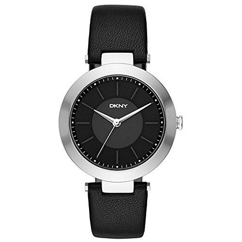 DKNY NY2465 STANHOPE Uhr Damenuhr Lederarmband Edelstahl 50m Analog schwarz